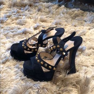 Brand New Prada Suede Sandal